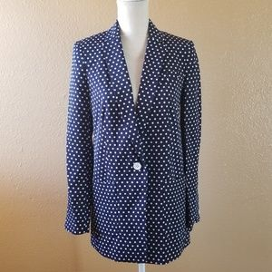 Michael Kors Jackets & Coats - Michael Kors Polka Dot Blue and White Blazer 2